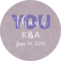Jam Jar Labels - Purple Thank You Stickers
