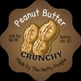 Peanut Butter Peanuts Design