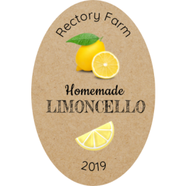 Personalised Food Labels - Oval Limoncello Stickers