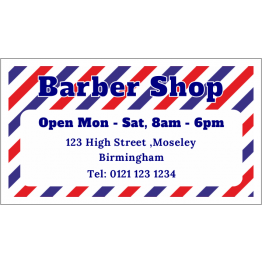 Personalised Barber Shop Magnet - Stripey Design