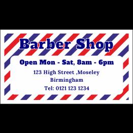 Personalised Barber Shop Magnet - Stripey Design