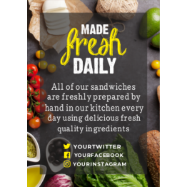 Table Talkers - Made Fresh Daily Promotional Fliers