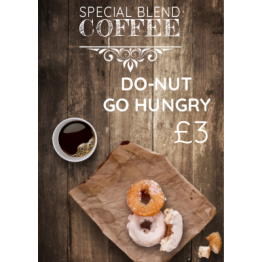 Table Talkers - Donut and Coffee