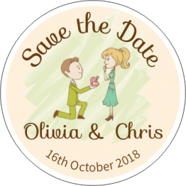 Proposal Save the Date Magnet Design