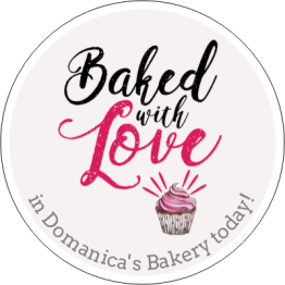 Baked with Love Cupcake Sticker Design