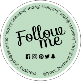 Follow Me Social Media Sticker Design