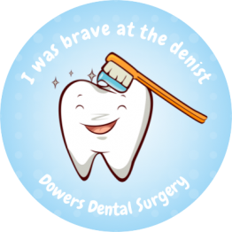 Personalised Dentist Stickers - Smiling Tooth Design