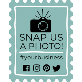 Snap Us a Photo! Sticker Design
