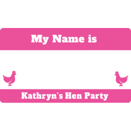 Satin Hen Party Name Tags