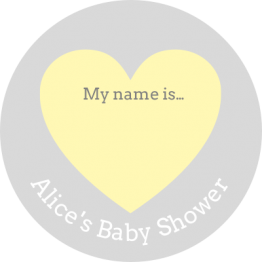 Baby Shower Name Tags for Clothing