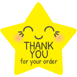 Cutie Pie Star Thank You Sticker Design