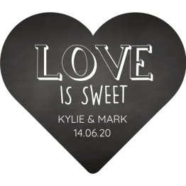 Love is Sweet Chalkboard Wedding Favour Stickers