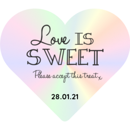 Wedding favour stickers - Love is Sweet
