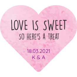 Love is Sweet Pink Wedding Sweet Bag Stickers