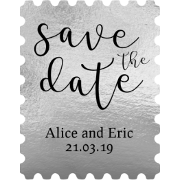 Silver Save the Date Stamps