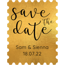 Gold Save the Date Stamp