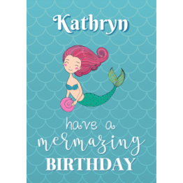 Have a Mer-masing Birthday Postcard