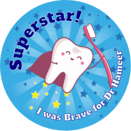 Superstar Dentist Reward Stickers