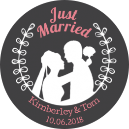Just Married Lovers Car Window Sticker Design