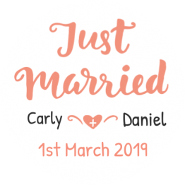 Just Married Car Window Sticker Design