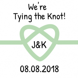 We're Tying the Knot! Save the Date Mint Sticker Design