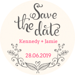 Save the date Floral Sticker Design