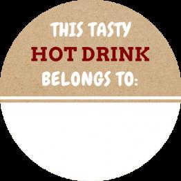 Tasty Hot Drink Label Sticker
