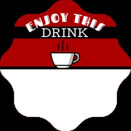 Enjoy Hot Drink Label Sticker