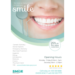 "Dentistry ""Reasons to Smile"" Flyer Design"