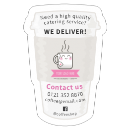 Take-away Cup Contact Details Magnet Design
