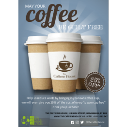 Flyer - Coffee Shop Cup Reuse Incentive