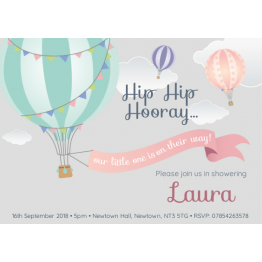 Baby Shower Invite - Air Balloons Design