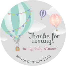Air Balloon Thank You Sticker
