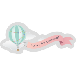 Air Balloon custom Shape Sticker