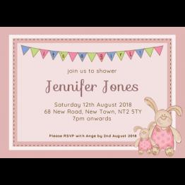 Bunnies Baby Shower Invite - Girls