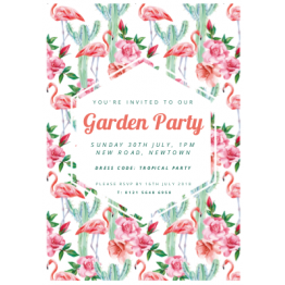 Flamingo Print Invite