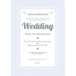 Wedding Invitation - Ditsy Floral Design