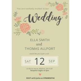 Wedding Invitation - Botanical Design