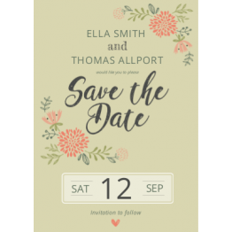 Save the Date - Botanical Design