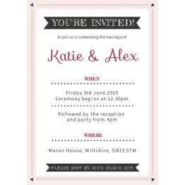 Wedding Invitation - Little Hearts Design