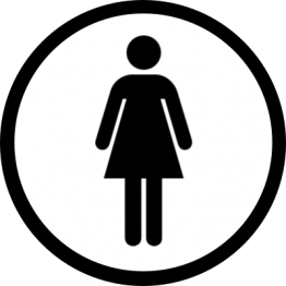 Toilet Sticker - Womens