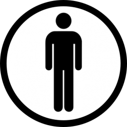 Toilet Sticker - Mens