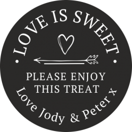 Love is Sweet Treat Stickers