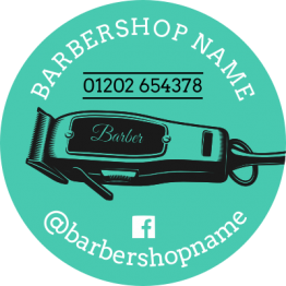 Barber Sticker - Shaver Design