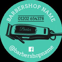 Barber Sticker - Shaver Design