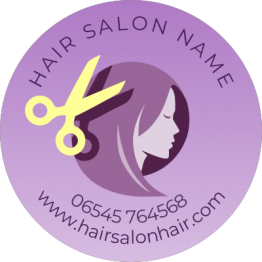 Hair Salon Sticker - Pink Deisgn