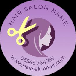 Hair Salon Sticker - Pink Deisgn