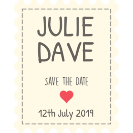 Save the Date Mini Heart Design