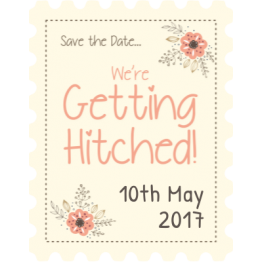 We're Getting Hitched Stamp Stickers
