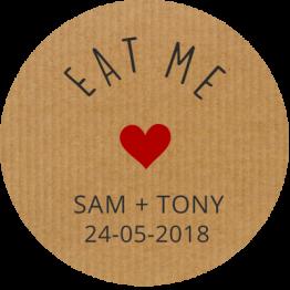 Eat Me Paper Sticker Design